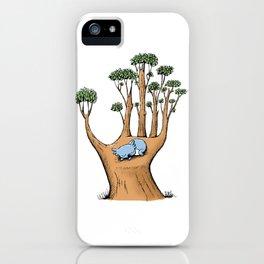 Cute Koala in a Tree Hand iPhone Case