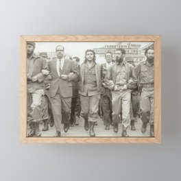 Che Guevara, Fidel Castro and Revolutionaries Framed Mini Art Print