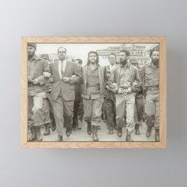 Che Guevara, Fidel Castro and Revolutionaries Framed Mini Art Print