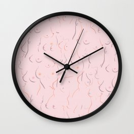 Breasts in Millennial Pink Wall Clock