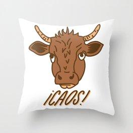 Total Caos Throw Pillow