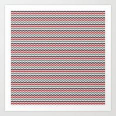 Zigged Chevron Art Print