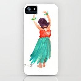 Hawaiian Hula Dancer 5 iPhone Case