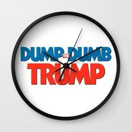 Dump Dumb Trump Wall Clock