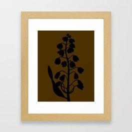 Fritillary in Lavender Blue - Original Floral Botanical Papercut Design Framed Art Print