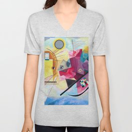 Wassily Kandinsky - Yellow Red Blue Unisex V-Neck