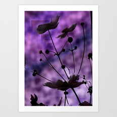 purple shadow Art Print