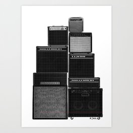 The Great Wall of LOUD Art Print