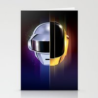 daft punk Stationery Cards featuring Daft Punk by Alevan