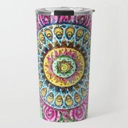 Mandala Technicolor Travel Mug