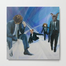 The Business Dogs of Society Metal Print