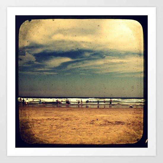 Vintage Beach - Through The Viewfinder (TTV) Art Print