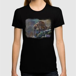 The Mountain King - Cougar Wildlife Art T-shirt