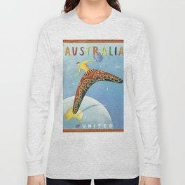Australian Vintage Travel Poster Long Sleeve T-shirt