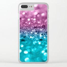 Tropical Beach Lady Glitter #7 #shiny #decor #art #society6 Clear iPhone Case