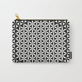 Flower of Life Black White 1 Carry-All Pouch
