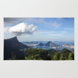 RIO DE JANEIRO THE CITY POSTCARD Rug