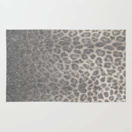 Shimmer (Snow Leopard Glitter Abstract) Rug