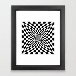 Optical Illusion Hallway Framed Art Print
