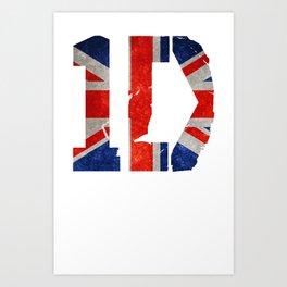 1D Logo One Direction Art Print