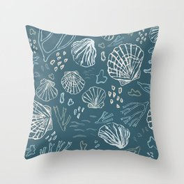 Deep-sea Treasures - cold Throw Pillow