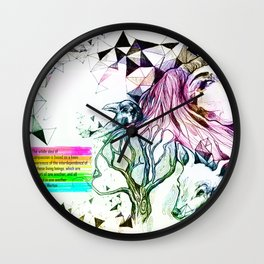 Interconnectedness of all life Wall Clock