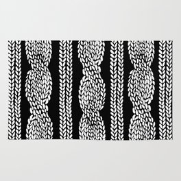 Cable Black Rug