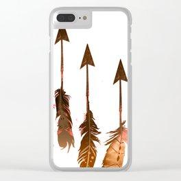 405 Rustic Boho Arrows Clear iPhone Case