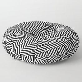 Hypnotic Black and White, Trippy Optical Illusion Vertical & Horizontal Stripe Pattern Floor Pillow