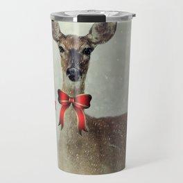 Christmas Deer Holiday Greetings Travel Mug