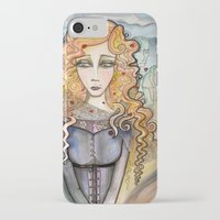 black widow iPhone & iPod Cases featuring Widow by Aleksandra Jevtovic