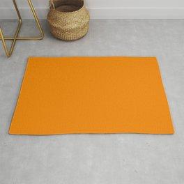 Summer Orange Solid Colour  Rug
