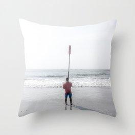 Raised Oar Throw Pillow