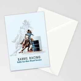 Barrel Racing - Life in the Fast Lane Stationery Cards