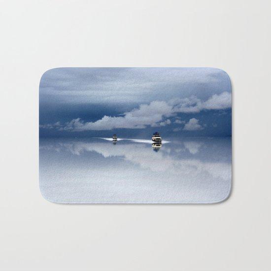 Traveling through the sky Bath Mat