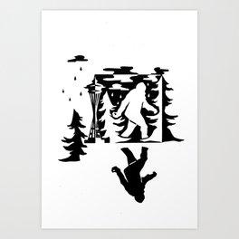 Seattle Sasquatch Art Print