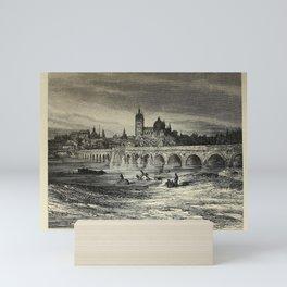 Gustave Doré - Spain (1874): Roman Bridge, City of Salamanca Mini Art Print