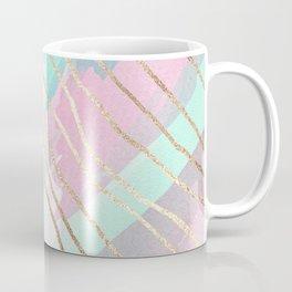 Girly Watercolor Pink Teal Purple Gold Brushstroke Coffee Mug