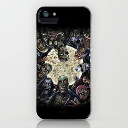 Zombies attack (zombie circle horde) iPhone Case