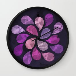 Abstract Water Drops Wall Clock