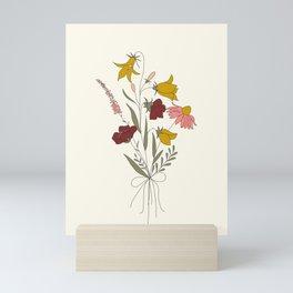 Wildflowers Bouquet Mini Art Print