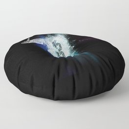 Ox Skull space Floor Pillow