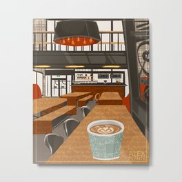 Coffee at The Forks Metal Print