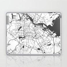 Amsterdam White on Gray Street Map Laptop & iPad Skin