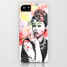 Audrey Hepburn Painting Slim Case iPhone (5, 5s)