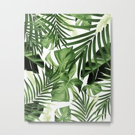 Tropical Jungle Leaves Pattern #12 #tropical #decor #art #society6 Metal Print