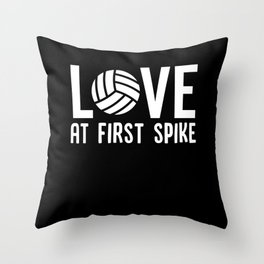 Volleyball Love At First Spike Throw Pillow