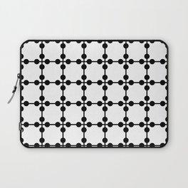 Droplets Pattern - White & Black Laptop Sleeve
