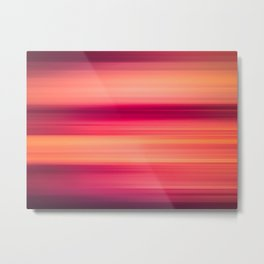 Abstract background blur motion red sunset drops Metal Print