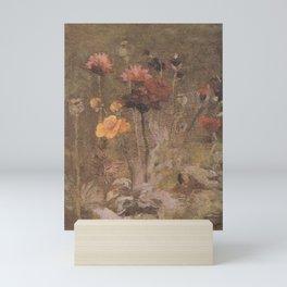 Still Life with Scabiosa and Ranunculus Mini Art Print